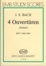 Johann Sebastian Bach - 4 Ouvertüren (Suiten) BWV 1066-1069 – Partitur - Partition - di-arezzo.fr
