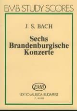 6 Brandenburgische Konzerte BACH Partition laflutedepan.com