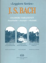 BACH - Goldberg variations extr. - String orch. - Sheet Music - di-arezzo.com
