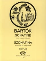 BARTOK - Sonatine - Violine Klavier - Sheet Music - di-arezzo.co.uk