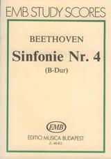 Symphonie n° 4 - Partitur BEETHOVEN Partition laflutedepan.com
