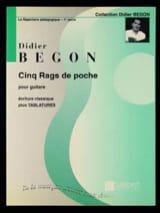 5 Rags de poche Didier Begon Partition Guitare - laflutedepan