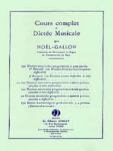 Noël Gallon - 100 Musical dictations with 2 parts - Sheet Music - di-arezzo.com