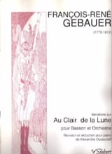 François-René Gebauer - Variations on the light of the moon - Sheet Music - di-arezzo.com