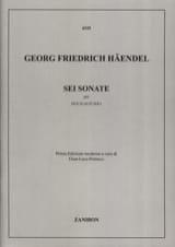 6 Sonates - 2 Flûtes - Georg Friedrich Haendel - laflutedepan.com