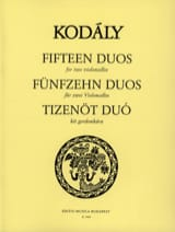 15 Duos – 2 Violoncelles - Zoltan Kodaly - laflutedepan.com