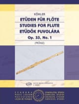 Etudes Op. 33 Volume 1 Ernesto Kohler Partition laflutedepan.com