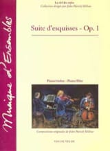 Suite d'esquisses op. 1 John Patrick Millow Partition laflutedepan.com
