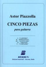 5 Piezas Astor Piazzolla Partition Guitare - laflutedepan
