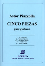 Astor Piazzolla - 5 Piezas –Guitarra - Partition - di-arezzo.fr