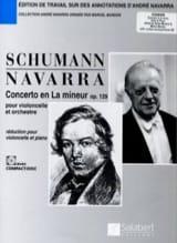 Concerto la mineur op. 129 - Violoncelle SCHUMANN laflutedepan.com
