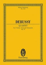 DEBUSSY - String Quartet, Op. 10 - Sheet Music - di-arezzo.com