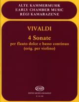 VIVALDI - 4 Sonates - Flauto dolce e Bc - Partition - di-arezzo.fr