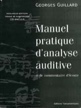 Manuel pratique d'analyse auditive Georges Guillard laflutedepan.com