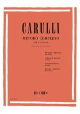 Ferdinando Carulli - Méthode complète de guitare - Partition - di-arezzo.fr