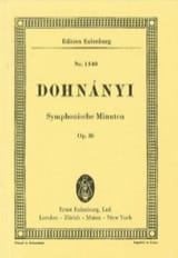 DOHNÁNYI - Symphonische Minuten, op. 36 - Sheet Music - di-arezzo.co.uk