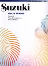 Suzuki - Violin School Vol.4 - Piano Accompaniment - Sheet Music - di-arezzo.com