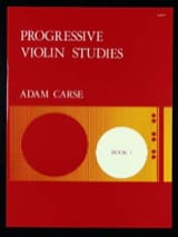 Adam Carse - Progressive violin studies - Book 1 - Partition - di-arezzo.fr