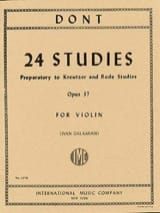 Jacob Dont - 24 Preparatory studies op. 37 Galamian - Sheet Music - di-arezzo.co.uk