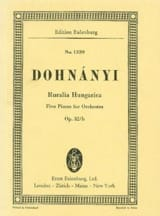 DOHNÁNYI - Ruralia Hungarica, op. 32b - Sheet Music - di-arezzo.co.uk