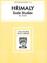 Etudes de Gammes Johann Hrimaly Partition Violon - laflutedepan.com