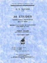 Heinrich Ernst Kayser - 36 Studies op. 20 - Volume 3 Finger - Sheet Music - di-arezzo.co.uk
