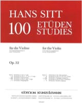 Hans Sitt - 100 Etudes op. 32 - Book 3 - Sheet Music - di-arezzo.co.uk