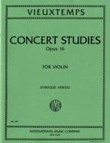 Henri Vieuxtemps - 6 Concert Studies op. 16 - Partition - di-arezzo.fr