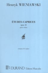 WIENIAWSKI - Studies-Caprices op. 10 - Sheet Music - di-arezzo.co.uk