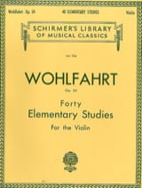 Franz Wohlfahrt - 40 Elementary Studies op. 54 - Sheet Music - di-arezzo.co.uk