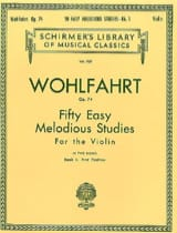 Franz Wohlfahrt - 50 Easy melodious studies op. 74, Volume 1 - Partition - di-arezzo.fr