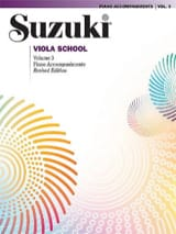 Suzuki - Viola School Vol.3 - Accompagnement Piano - Partition - di-arezzo.ch