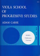 Adam Carse - Viola School Of Progressive Studies Volume 1 - Partition - di-arezzo.fr
