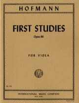 Richard Hofmann - First Studies Op. 86 - Partition - di-arezzo.fr
