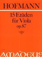 15 Etüden für Viola op. 87 Richard Hofmann Partition laflutedepan