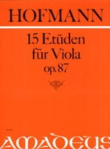 15 Etüden für Viola op. 87 - Richard Hofmann - laflutedepan.com