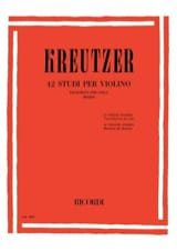 Rodolphe Kreutzer - 42 Studi per Violino - Viola Bennici - Partitura - di-arezzo.es