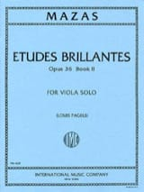 Jacques Féréol Mazas - Etudes Brillantes op. 36 - Book 2 – Viola (Pagels) - Partition - di-arezzo.fr