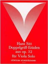 Doppelgriff-Etüden aus op. 32 - Viola Hans Sitt laflutedepan.com