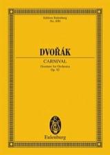Karneval-Ouvertüre Antonin Dvorak Partition laflutedepan.com