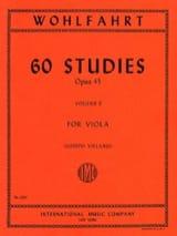 Franz Wohlfahrt - 60 estudios op. 45 - Volumen 2 - Viola Vieland - Partitura - di-arezzo.es