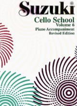 Cello School Volume 6 - Piano-Acc. Suzuki Partition laflutedepan.com
