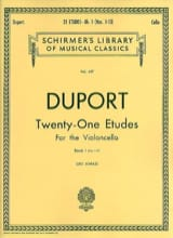 21 Etudes - Volume 1 (1-13) - Cello Jean Louis Duport laflutedepan.com