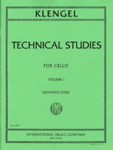 Julius Klengel - Technical studies - Volume 1 - Partition - di-arezzo.fr