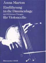 Anna Marton - Einfuhrung in die Daumenlage - Partitura - di-arezzo.es