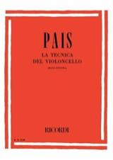 La Tecnica Del Violoncello Aldo Pais Partition laflutedepan.com