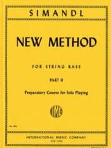 Franz Simandl - New method for string bass, part 2 - Sheet Music - di-arezzo.com