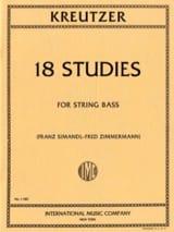 Rodolphe Kreutzer - 18 Studies - Double Bass - Sheet Music - di-arezzo.co.uk