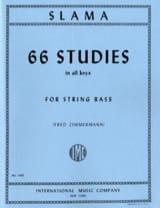 66 Studies - String bass Anton Slama Partition laflutedepan.com