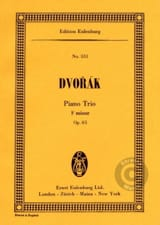 Klavier-Trio F-Moll, Op. 65 Antonín Dvorák Partition laflutedepan.com